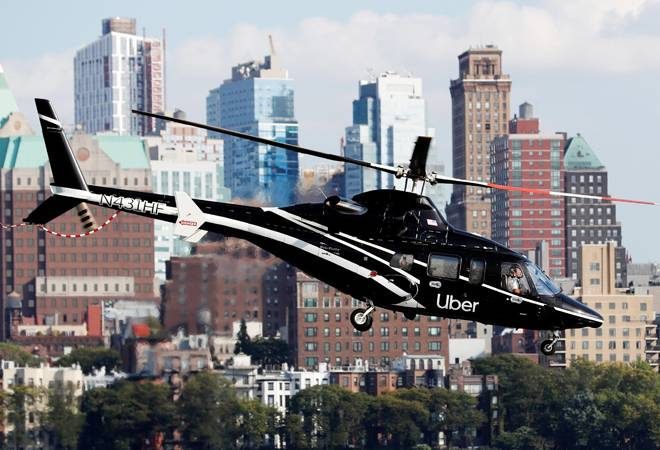TAKING AN UBER COPTER